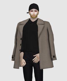 [Lonelyboy] TS4 Street Style Shoulder Coat Acc... - HappyLifeSims