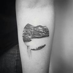 Search inspiration for a Blackwork tattoo. Nature Tattoos, Life Tattoos, Hand Tattoos, Sleeve Tattoos, Tatoos, Lily Tattoo Design, Henna Tattoo Designs, Montain Tattoo, Fine Line Tattoos