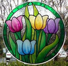 Stained Glass Tulips by zelma