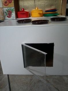 Oven made with a Cd rom