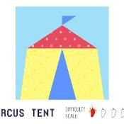 Circus tent paper pieced quilt block - via @Craftsy