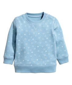 CONSCIOUS. Top in soft sweatshirt fabric made from organic cotton with press-studs on one shoulder (size 1-2Y without press-studs). Ribbing around the