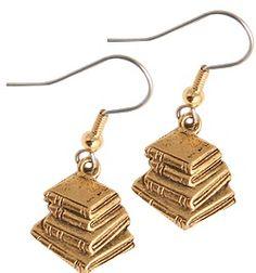 book earrings - I need these!