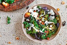 Add some major crunch factor to this healthy salad that's filled with superfood greens including kale and spinach. Eating healthy has never looked so good.