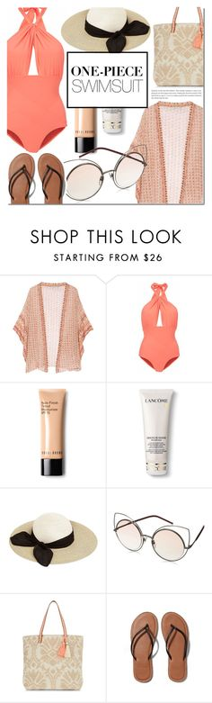 """""""One piece simsuit"""" by dian-lado ❤ liked on Polyvore featuring Mes Demoiselles..., Lilliput & Felix, Bobbi Brown Cosmetics, Lancôme, Eugenia Kim, Marc by Marc Jacobs, New Look, Abercrombie & Fitch and onepieceswimsuit"""