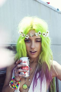Blog | For Love & Lemons For once I am loving neon yellow hair