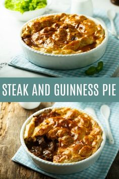 This steak and Guinness pie isn't just for St. It's delicious Irish pub food for any day! patricks day recipes dinner meat Steak and Guinness Pie Recipe - Creative Cynchronicity Scottish Recipes, Irish Recipes, Pie Recipes, Dinner Recipes, Steak And Guinness Pie, Guinness Pies, Steak Pie Recipe, Ale Pie, Steak And Ale