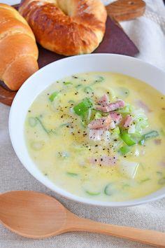 ねぎたっぷり!豆乳とベーコンのスープ by はっとりみどり 「写真がきれい」×「つくりやすい」×「美味しい」お料理と出会えるレシピサイト「Nadia | ナディア」プロの料理を無料で検索。実用的な節約簡単レシピからおもてなしレシピまで。有名レシピブロガーの料理動画も満載!お気に入りのレシピが保存できるSNS。