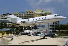 Dassault Falcon (Mystere) 20F-5 - How Low Can You Go? Happy Maho Beach!