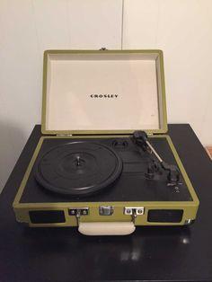 Crosley portable vinyl record player