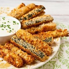 Crispy Baked Zucchini Fries, turned out fantastic we had to bake them a little longer, and next we'll double the spices but overall two thumbs up.