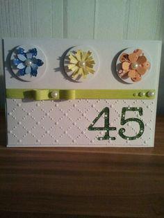 Karte zum 45 Geburtstag