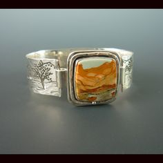 Sally Wade -- bracelet Picture Jasper with top closure