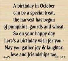 October Birthday Greeting - 446G - DRS Designs