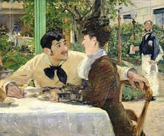 The Garden Of Pere Lathuille, 1879 by Edouard Manet (French 1832-1883)