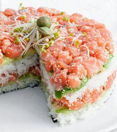 Sushi Recipes, Pie Recipes, Dessert Recipes, Cooking Recipes, Sushi Torte, Sushi Cake, Dessert Sushi, Dessert Table, Oshi Sushi