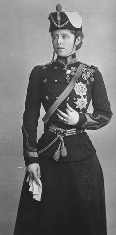 Queen Marie of Romania in uniform.
