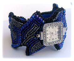 браслет часы - морская волна   biser.info - всё о бисере и бисерном творчестве