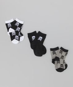 Black Skull Organic Socks Set