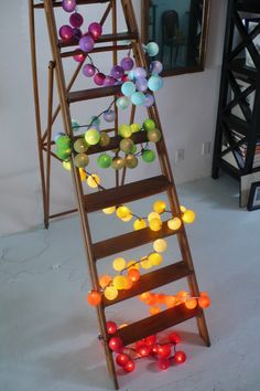 Yellow + Orange for outside Rainbow Light, Taste The Rainbow, Over The Rainbow, Cable And Cotton, Cotton Ball Lights, Diy Light Fixtures, So Creative, Dream Decor, Mellow Yellow