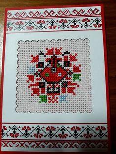 Cross Stitch Heart, Cross Stitch Cards, Bulgarian, Ribbon Embroidery, Mandala, Quilts, Blanket, Rugs, Pattern