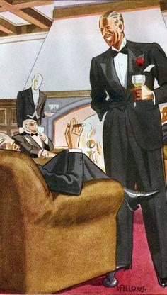 buttondownmoda:  Esquire, 1933. Laurence Fellows