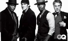 The Stars of Django Unchained: Samuel L. Jackson, Quentin Tarantino, Jamie Foxx & Christoph Waltz