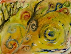 """""""Confusion"""" [Fingerpainting - Watercolor on Paper]"""
