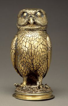 Owl Cup, Germany, Nuremberg, c 1560. AC1992.152.106. Gift of Varya and Hans Cohn. LACMA.