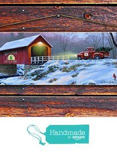 "Covered Bridge & Truck Wood Sign - 4""x12"" Reclaimed Pallet Wood Sign - Handmade in Nashville, TN from Sawyer's Mill Inc. http://www.amazon.com/dp/B01AH54BO8/ref=hnd_sw_r_pi_dp_XRwUwb1736370 #handmadeatamazon"