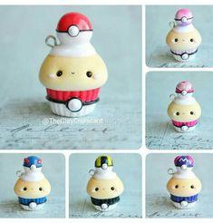 Polymer clay Pokémon cupcakes