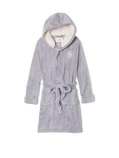 The Cozy Hooded Short Robe - Victoria's Secret