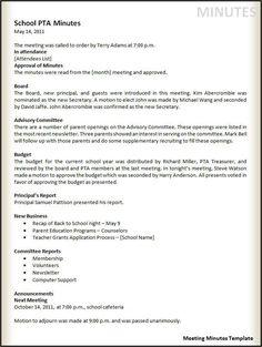 Meeting Minutes Free Template Eustance Eustance0809 On Pinterest