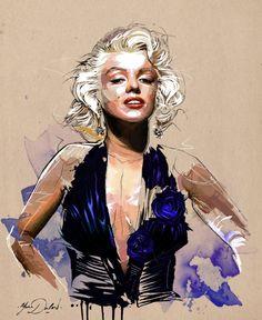 yann-dalon-illustrateur:  Mon Illustration de Marilyn Monroe !  My painting of Marilyn !