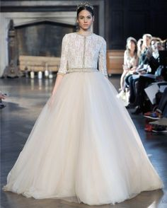 """See the """"Georgia"""" in our 50 Wedding Dresses for Every Bride's State Pride gallery Tulle Ball Gown, Ball Gowns, Lilac Dress, Flower Girl Dresses, Stone Fox Bride, Beautiful White Dresses, Trumpet Gown, Modest Wedding Dresses, Wedding Attire"""