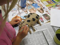 Paper Mache bugs (3rd graders art) {from The Art Room at The Falcon Academy of Creative Arts}