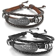 Couple Bracelets, Bangle Bracelets With Charms, Fashion Bracelets, Bangles, Leather Bracelets, Black Angel Wings, Special Gifts, Size 14, Personal Style