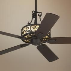 """60"""" John Timberland Natural Mica Collection Iron Ceiling Fan"""