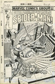 SPECTACULAR SPIDER-MAN #4 cover by DAVE COCKRUM