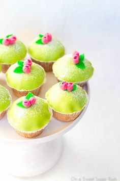 The classic Swedish princess cake made into sweet little cupcakes!