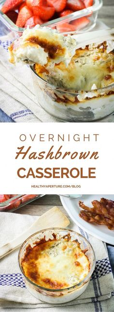With just a few ingredients and a couple of minutes prep, a hearty bowl of hashbrown comfort food is ready for breakfast with this Easy Overnight Hashbrown Casserole recipe.