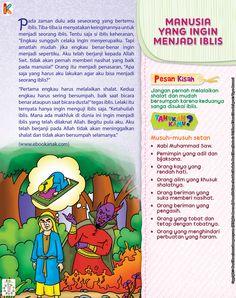 Manusia yang Ingin Menjadi Iblis | Ebook Anak Kids Story Books, Stories For Kids, Quran Quotes, Islamic Quotes, Just Pray, Learn Islam, Islam Muslim, Islamic Pictures, Bedtime Stories