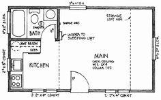 The 14'x 24' Floor plan