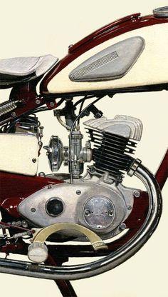 #2101004HQ 1955 YAMAHA YA-1 | detail Yamaha Motorbikes, Yamaha Motorcycles, Cars And Motorcycles, European Motorcycles, Vintage Motorcycles, Vintage Bikes, Vintage Cars, Honda Cub, Motor Scooters