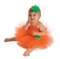 Rubie's Costume Newborn Pumpkin Tutu Dress, Orange, 6-9 Months - $13.10 : amazon #halloween_costume