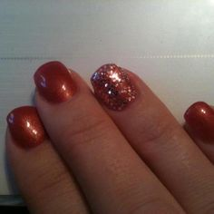 Glam fall nails by Orchard Valley Spa