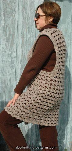 ABC Knitting Patterns - Scallop Shell Vest (crochet)
