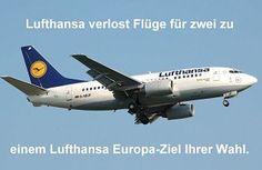 Reise Gewinnspiel - Lufthansa verlost Flüge für zwei in der Economy Class zu einem Lufthansa Europa-Ziel Ihrer Wahl. Einsendeschluss ist der 30.11.2016