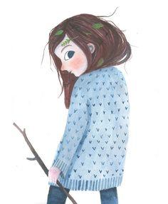 Signe Kjær Wild Girl #illustration