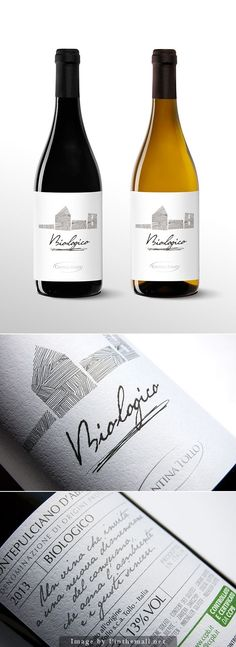 Etichetta vino biologico Cantina Tollo | Wine Label Design